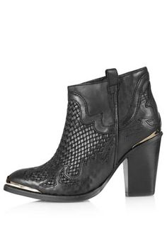 Topshop woven boots