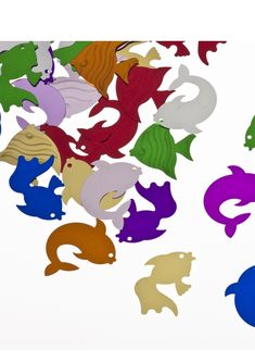 Mixed fish confetti available in packs. Wedding Confetti, South Africa, Rooster, Kids Rugs, Fish, Animals, Shopping, Decor, Animales