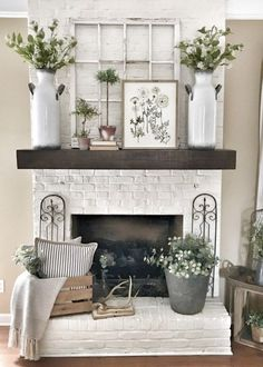 Simple Beauty Spring Mantel Decoration Ideas On A Budget 01