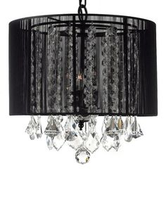 Another great find on #zulily! Black Crystal Shade Chandelier by Gallery Lighting #zulilyfinds