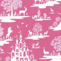 Dear Stella House Designer - Pixie Dust - Fairy Toile in Fuchsia