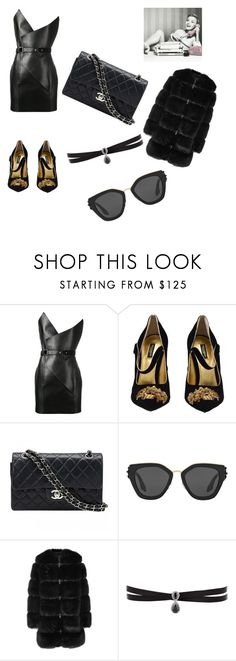 """""""Untitled #33"""" by hadzicemina ❤ liked on Polyvore featuring Yves Saint Laurent, Dolce&Gabbana, Chanel, Prada, Givenchy and Fallon"""