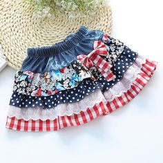 Cheap skirt kids, Buy Quality skirt girl directly from China bow skirt Suppliers: 2016 New Girls Summer Denim Bow Skirts Girls Printed tutu Jeans Skirt Baby Girls Party Skirts Kids Brand Baby Girl Tutu, Little Girl Dresses, Baby Dress, Girls Dresses, Baby Girls, Girl Skirts, Bow Skirt, Girl Dress Patterns, Party Skirt