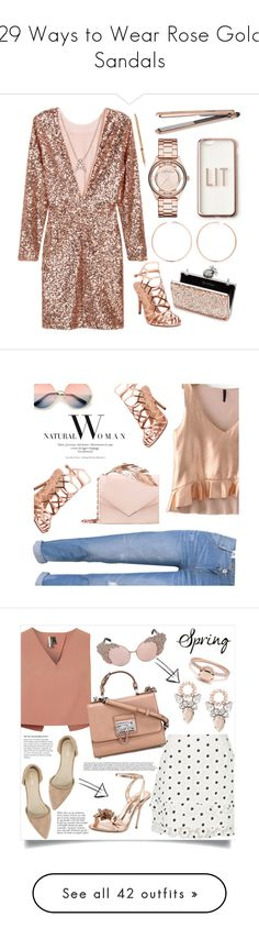 """29 Ways to Wear Rose Gold Sandals"" by polyvore-editorial ❤ liked on Polyvore featuring waystowear, rosegoldsandals, Missguided, Marc Jacobs, Miss Selfridge, Anita Ko, H&M, Madden Girl, Bony Levy and DIVA"