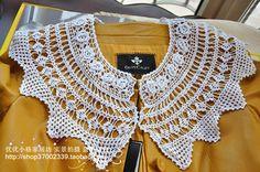 British export trade of the original single three-dimensional flowers handmade crocheted crochet false collar white lace collar