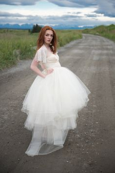 Marie Lace Flutter Sleeve Jacket , Amelie Corset and Anna tulle skirt-- all new bridal separates from Rose Red Bridal Deaigns Wedding Dress Separates, Two Piece Wedding Dress, Wedding Skirt, Bridal Separates, One Piece Dress, Wedding Dresses, Bridal Hat, Bridal Gowns, Bridal Jumpsuit