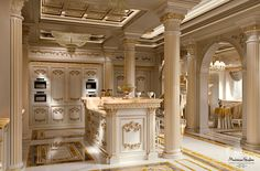 Imperial-kitchen-with-backlit-marble-Kitchen-King-ivory-version-Kitchen-collection-Modenese-Gastone.jpg - Cucina Royal versione avorio