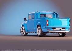 Another pickup based on Soviet truck Zil-130. Project still in progress in metal.