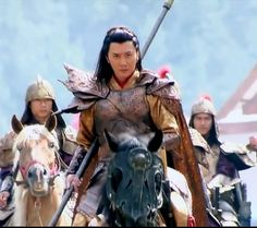 Feng William (Feng Shao Feng) as Prince of Lao Ling and White Vengeance....I love love love this guy....the long hair slays me