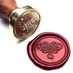 Love Heart Wedding The Knot Wax Seal Stamp Seal Design, Wine Packaging, Wax Seal Stamp, Custom Stamps, Vintage Design, Sewing Stores, Love Heart, Sewing Crafts, Gifts