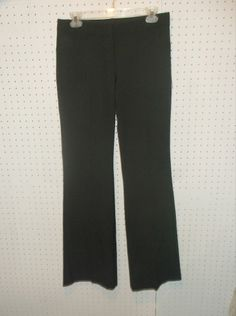 Women's Express Design Studio EDITOR Size 4 L LONG Dress Flat Front Career Pants