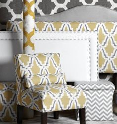 New lemon and grey online exclusives, including headboards, rugs and ottomans!