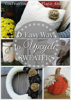 Six Easy Ways to Upcycle a Sweater