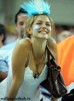 Argentina World Cup female fan Hot Football Fans, Football Girls, Soccer Fans, Soccer World, Female Football, Premier League, Soccer Cup, Argentina Football, Hot Fan