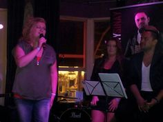 Me singing with Sonny Sinay
