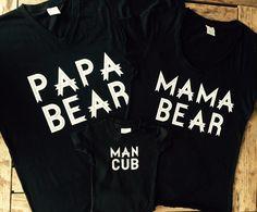 Mama Bear, Mama Bear Shirt, Papa Bear Shirt, Baby Bear, Baby Bear Shirt. New Mom, New Mom Gift, New Mom Shirt, Family Shirts V neck t-shirts.FOR THE BUNDLESPle