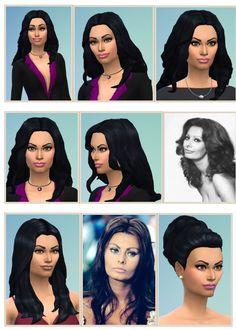 Sophia Loren and Loren Hair at Birksches Sims Blog via Sims 4 Updates  Check more at http://sims4updates.net/hairstyles/sophia-loren-and-loren-hair-at-birksches-sims-blog/