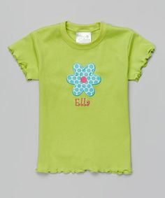 Another great find on #zulily! Green Flower Personalized Tee - Toddler & Girls #zulilyfinds