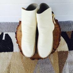 iceblink leather moccasins  vintage winter by shopLOVECRAFTvintage
