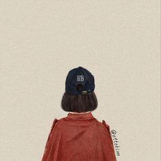 Couple Aesthetic, Aesthetic Girl, Aesthetic Anime, Ulzzang Short Hair, T Art, Cartoon Art Styles, Digital Art Girl, Korean Art, Girl Short Hair