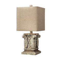 Found it at Wayfair - Corinthian Column Table Lamp in Vintage White
