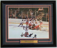 1980 USA Olympic Hockey Miracle on Ice Framed 8x10 Photo
