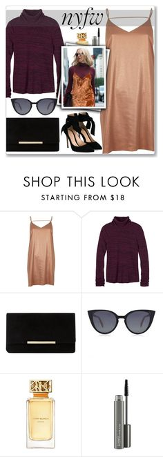 """""""NYFW"""" by cowseatchard ❤ liked on Polyvore featuring River Island, prAna, Dune, Fendi, Tory Burch, MAC Cosmetics and Gianvito Rossi"""