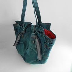 Recycled jeans handbag  image 1 of 2