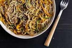 Garlic Soba and Zucchini Noodles   Naturally Ella