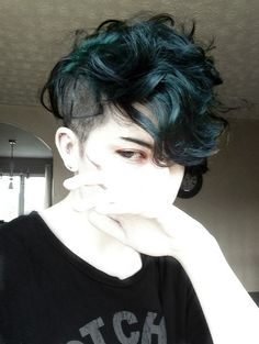 Deep Teal Tumblr Hair
