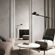 Sjekk ut disse gulvlampene « Helgevold Gruppen Barcelona Chair, Lounge, Sofa, Interior Design, Lighting, Modern, Led, Furniture, Home Decor