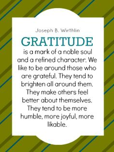 Gratitude & surrounding yourself with those who are grateful.