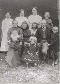 Familienfoto, Familie Klatt, Riege/Deutsch Krone/Pommern, um 1913