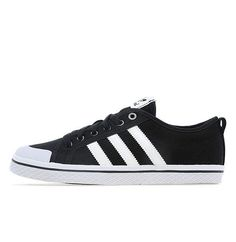 separation shoes 5ee5a 58f54 Adidas Originals Honey Stripes Lo Homme et Femme chaussures - noir blanc  boutique officiel