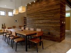 Modern Dining Room Ideas With Rustic Hardwood Wall Decor And Square Shaped Pendant Lamps Tips How To Installing Hardwood Flooring On Walls