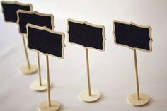 SALE Set of 5 Mini Chalkboard Stands by HowJoyfulSupplies, $9.00