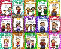 mx wp-content uploads 2016 10 U_Reglamento. Preschool Classroom Themes, Kindergarten Classroom Organization, Spanish Classroom Decor, Classroom Rules, Preschool Activities, Class Rules, Life Poster, Bilingual Education, Classroom Environment
