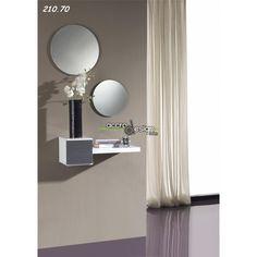 commode d'entrée design 2 tiroirs blandine, coloris blanc laqué ... - Petit Meuble D Entree Design