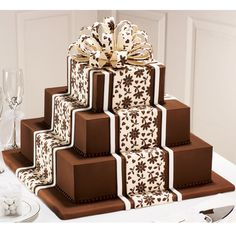 This exquisite floral design is expertly created using the Floral Fantasy Fondant Imprint Mat. Perfect for a wedding, shower or birthday celebration, these decadent chocolate tiers will surely tempt all party-goers.