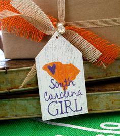Gift Tag / Ornament   South Carolina Girl