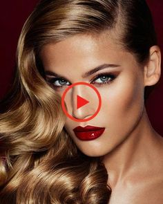 The Red Lipstick Makeup, Red Eyeshadow, Hair Makeup, Makeup Set, Makeup Looks, Makeup Ideas, Charlotte Tilbury Sephora, Bombshell Makeup, Glamorous Makeup