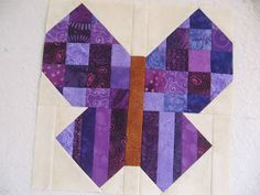 Purple butterfly block - RSC2017