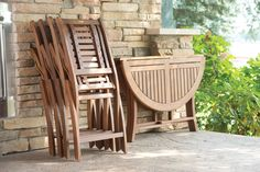 Folding & Storing, in Brazilian Eucalyptus Chairs and Dining Tables