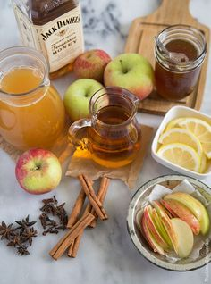 Hot toddy is a classic winter beverage. It is served warm and strong. My apple cider hot toddy is comprised of the same components of a tradition toddy with the additional kick of spiced apple cider.