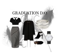 """""""Black&White"""" by ginewwra on Polyvore featuring moda, Karen Millen, Burberry, Tory Burch, Charlotte Russe i Elwood"""