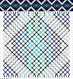 Muster # 91946, Streicher: 30 Zeilen: 28 Farben: 6