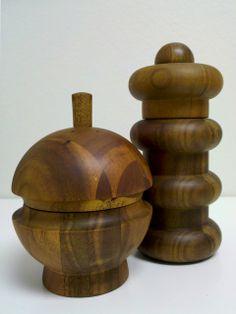 Dansk wooden salt & pepper shakers