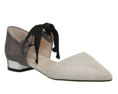Buy Nude Grey Suede Office Dusty Two Part Point Pumps from OFFICE.co.uk.