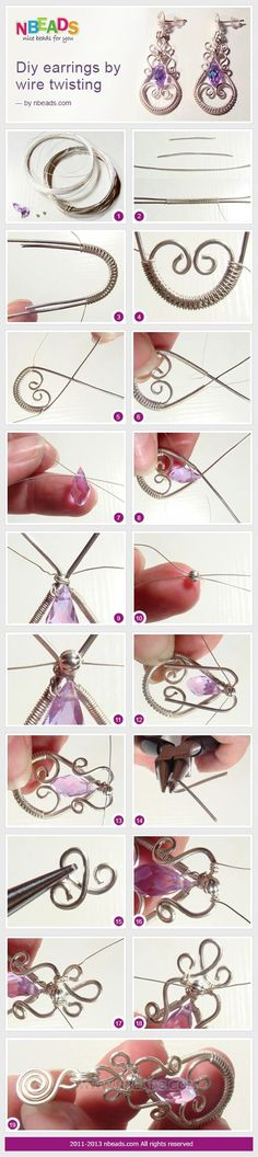 awesome DIY Bijoux - DIY Earrings By Wire Twisting – Nbeads
