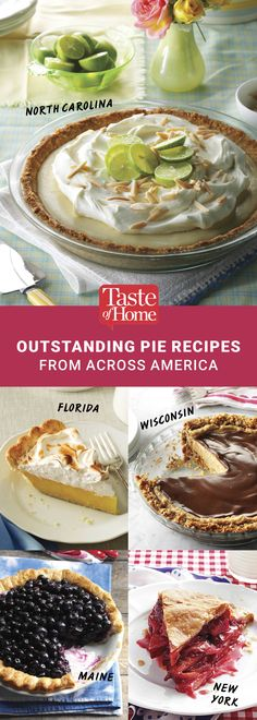 Outstanding Pie Recipes from Across America (from Taste of Home)